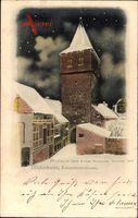 Hildesheim in Niedersachsen, Blick auf den Kehrewiederturm, Winteransicht
