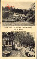 Bad Harzburg in Niedersachsen, Hotel zum Silberborn, Th. Müller, Terrasse