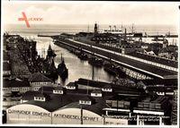 Cuxhaven, Fischmarkt, Hafenanlagen, Amerika Dampfer, Eisenwerke AG