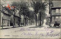 Clausthal Zellerfeld im Oberharz, Blick in die Schützenstraße, Häuser