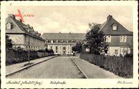 Clausthal Zellerfeld im Oberharz, Blick in die Aulastraße, Gebäude