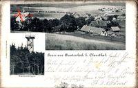 Buntenbach Clausthal Zellerfeld im Oberharz, Kuckholzklippe, Blick auf Ort
